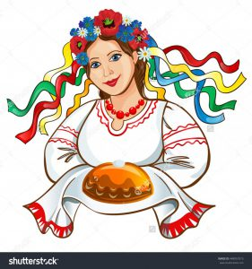 stock-vector-ukrainian-girl-in-a-wreath-with-a-loaf-448957015